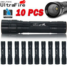 10PCS 15000LM 3Mode  XML T6 LED 18650 Zoomable Flashlight Torch Lamp Light H