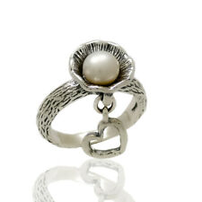 New SHABLOOL Ring Handmade Jewelry White Pearl 925 Sterling Silver