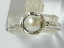 New SHABLOOL Ring Jewelry White Freshwater Pearl 925 Sterling Silver
