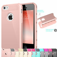 For Apple iPhone 5C Hybrid Sturdy Rubber Phone Case Hard Rugged Cover