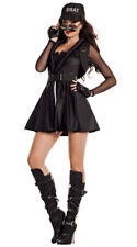 Sexy Starline SWAT Hottie Officer Police Cop Black Dress Costume S7041