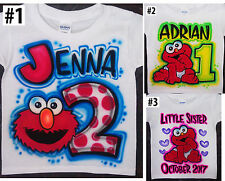 Airbrushed Personalized Cute Muppet Baby Elmo T-shirt Bodysuit Hoodie Pillowcase