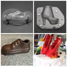 3D Children's/High Heel Lady's Shoe Chocolate Mold Stereo Baking Cake Candy DIY