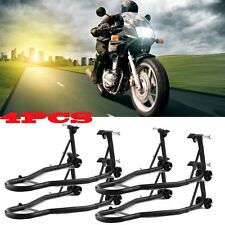 4X Motorcycle Bike Stand Rear Forklift Spoolift Paddock Swingarm Lift Auto Black
