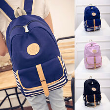 Fashion Women Men Canvas Naval Wind Backpack School Shoulder Bag Travel Rucksack