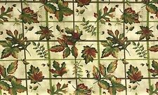Holiday Fall Colors Leaves on a Grid Cotton Coordinating Quilt Fabric 3 yards