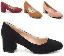LADIES WOMENS NEW MID BLOCK HEEL WORK MARY JANE SMART FORMAL COURT SHOES SIZE
