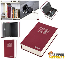 Secret Book Safe Box Lock With Key Dictionary Hidden Diversion Money Home Safety