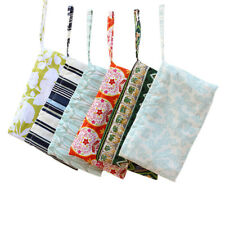 Girl's Colorful Cute Print Canvas Zipper Pouch Bag Pencil Cosmetic Case Pocket