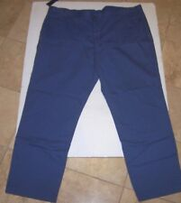 NEW Polo Ralph Lauren Preston Hampton chino pants flat front khaki blue 50 x 32