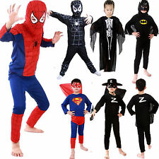 Children Fancy Dress Costumes Spiderman Black Venom Kids Boys Halloween Cosplay