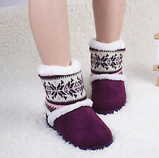 Women Winter Warm Shoes Thick Plush Indoor House Slippers Non-Slip Slipper Boots