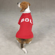 Dog Cat Clothes Apparel Casual Canine Red Bark Out Loud Tee Shirt XXS or XS
