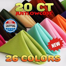 """17"""" x 17"""" Colors Polyester Linen Napkins Holidays Wedding Birthday Party Dinner"""