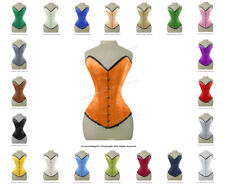 26 Double Steel Boned Waist Train Satin Overbust Shaper Wider Hips Corset #8837