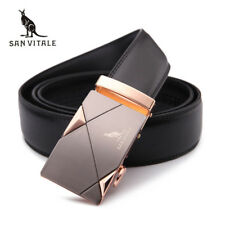 GENUINE LEATHER BELTS FOR MEN HIGH QUALITY METAL AUTOMATIC BUCKLE STRAP JEANS