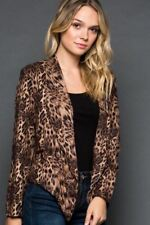 S-M-L NEW Gee Gee Faux Suede Leopard Short Jacket