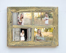 "NEW RUSTIC FARMHOUSE 2"" WIDE BARNWOOD 4 PHOTO PICTURE FRAME COLLAGE 8X10 DECOR"