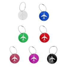 Outdoor Travel Luggage Tag Name Address ID Label Aluminum Suitcase Baggage Tags