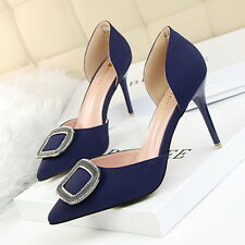 Rhinestone High Heels Shoes Party Wedding Women Pumps Heels Career Dress Shoes