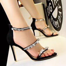 Rhinestone Sandals High Heels Shoes Party Women Pumps Heels Dress Shoes GWS208