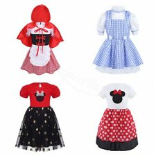 Kid Baby Girl Halloween Cosplay Dress Polka Dots/Plaid Toddler Costume For Party