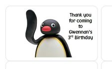 PERSONALISED STICKERS LABELS ADDRESS BIRTHDAY PARTY BAGS PENGUIN PINGU