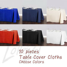 Rectangle Tablecloth Table Cover Party Wedding Linen Colors Choose Size Color