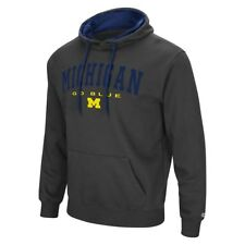 Michigan Wolverines NCAA Zone III Charcoal Pullover Hoodie (Charcoal)