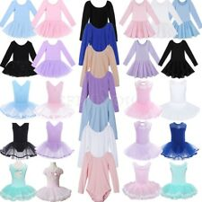 Girls Ballet Dress Toddler Kids Leotard Tutu Skirt Dancewear Gymnastics Costumes