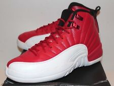 Air Jordan Retro 12 XII Gym Red White Black Sneakers Boy's GS Size 4-7 New
