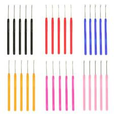 5pcs Pulling Hook Loop Threader Needle Tools for Micro Ring Hair Extensions