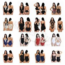 Womens One-Piece Swimsuit Bandage Bikini Push-up Padded Bra Bathing Swimwear New