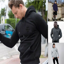 Men Outdoor Gym Athletic Pullover Pocket Sweatshirt Fit Hoodie Tracksuit Jacket