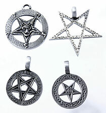 Pentagram Pewter 4 Models Band/Chain Satan Satanist Lucifer Pendant Path
