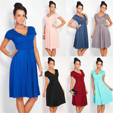 Summer Women Casual Short Sleeve Dresses Evening Party Beach Short Mini Dress 10