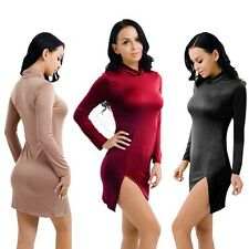 Women Sexy Bodycon Slim Evening Cocktail Party Long Sleeve Mini Pencil Dress
