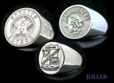 CUSTOM MADE ANY ATHLETIC FOOTBALL BASKETBALL …. TEAM ENGRAVED SIGNET RING SILVER