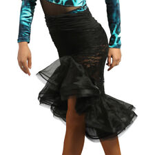 Latin Dance Dress Tango Salsa Ballroom Competition Practice Lace Skirt 3Color G9