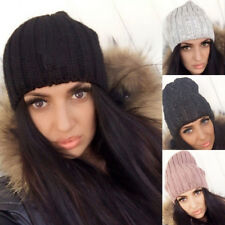 Winter Unisex Women Men Knit Ski Crochet Slouch Hat Cap Beanie Hip-Hop Hat Solid