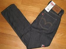 Mens Levi's 511 Skinny Jeans Extra Slim Fit Below Waist Rigid Black New