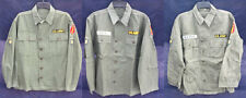 Vtg 1960s Vietnam War US Army Men's Fatigue Shirt Uniform Patches OG-107 Type 1