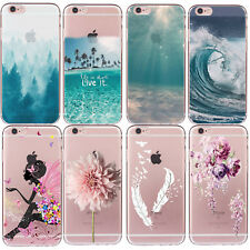 Hot Sale Pattern Back Soft TPU Skin Case Cover For iPhone 5 5s 6 6s 7 PLUS SE