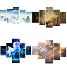 5pcs Unicorn Modern Abstract Canvas Print Art Painting Picture Wall Home Decor