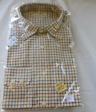 Mens Casual Long Sleeved Shirts Polyester and Cotton Size 17