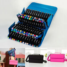 80 Slots Marker Pen Storage Case Carrying Bag Holder Organized For Touch Copic