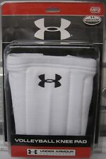UNDER ARMOUR Heat Gear White MPZ VOLLEYBALL KNEE PADS UNISEX NEW - S/M/L