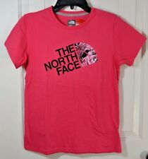 NWT GIRLS THE NORTH FACE GRAPHIC PINK SHORT SLEEVE CREW NECK T SHIRT SZ L14/16