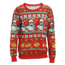 Women Christmas Sweater Santa Claus Pattern Pullovers Xmas Party Sweaters Ugly