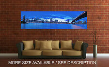 Wall Art Canvas Print Picture New York City Manhattan Bridge Panoramic-Unframed